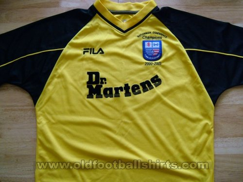 AFC Rushden & Diamonds Away baju bolasepak 2000 - 2002