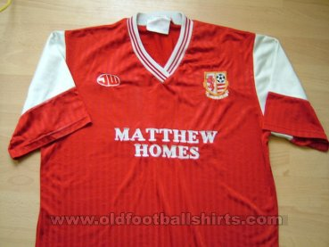 AFC Rushden & Diamonds Home baju bolasepak 1990 - 1992