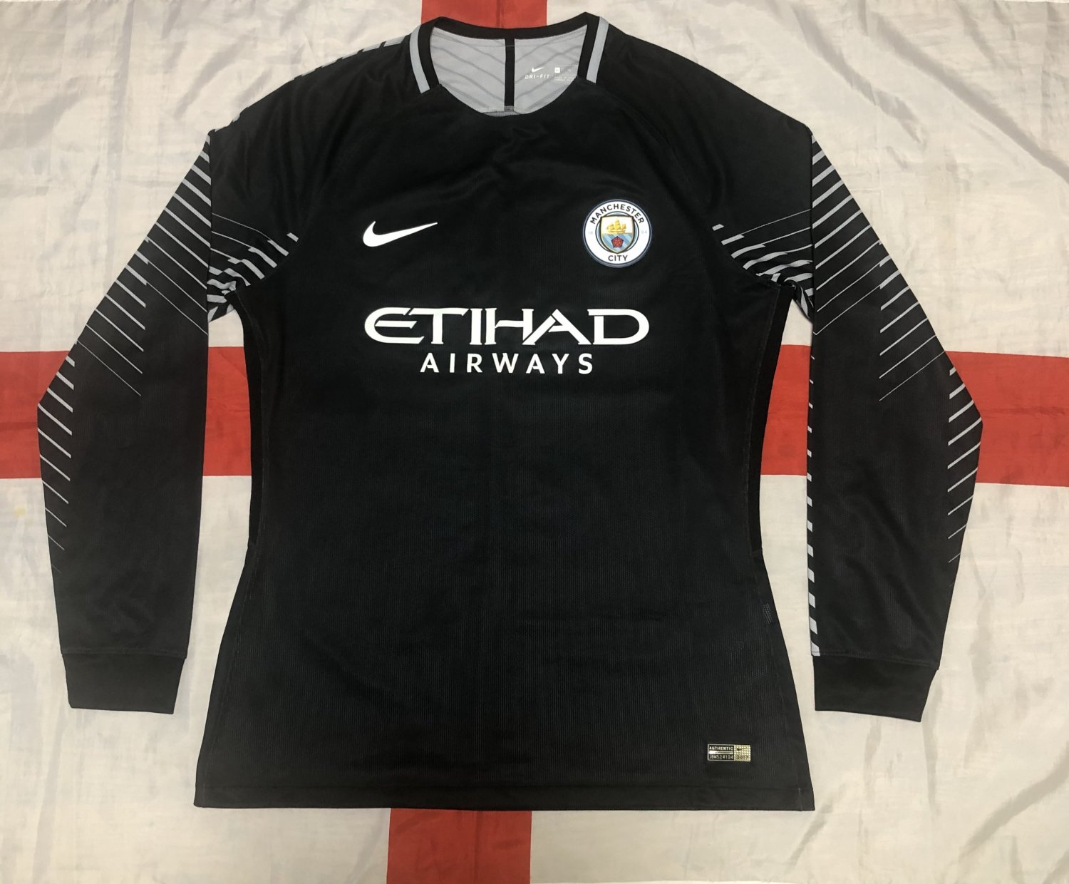 16 17 Manchester City Home Soccer Jersey Long Sleeve