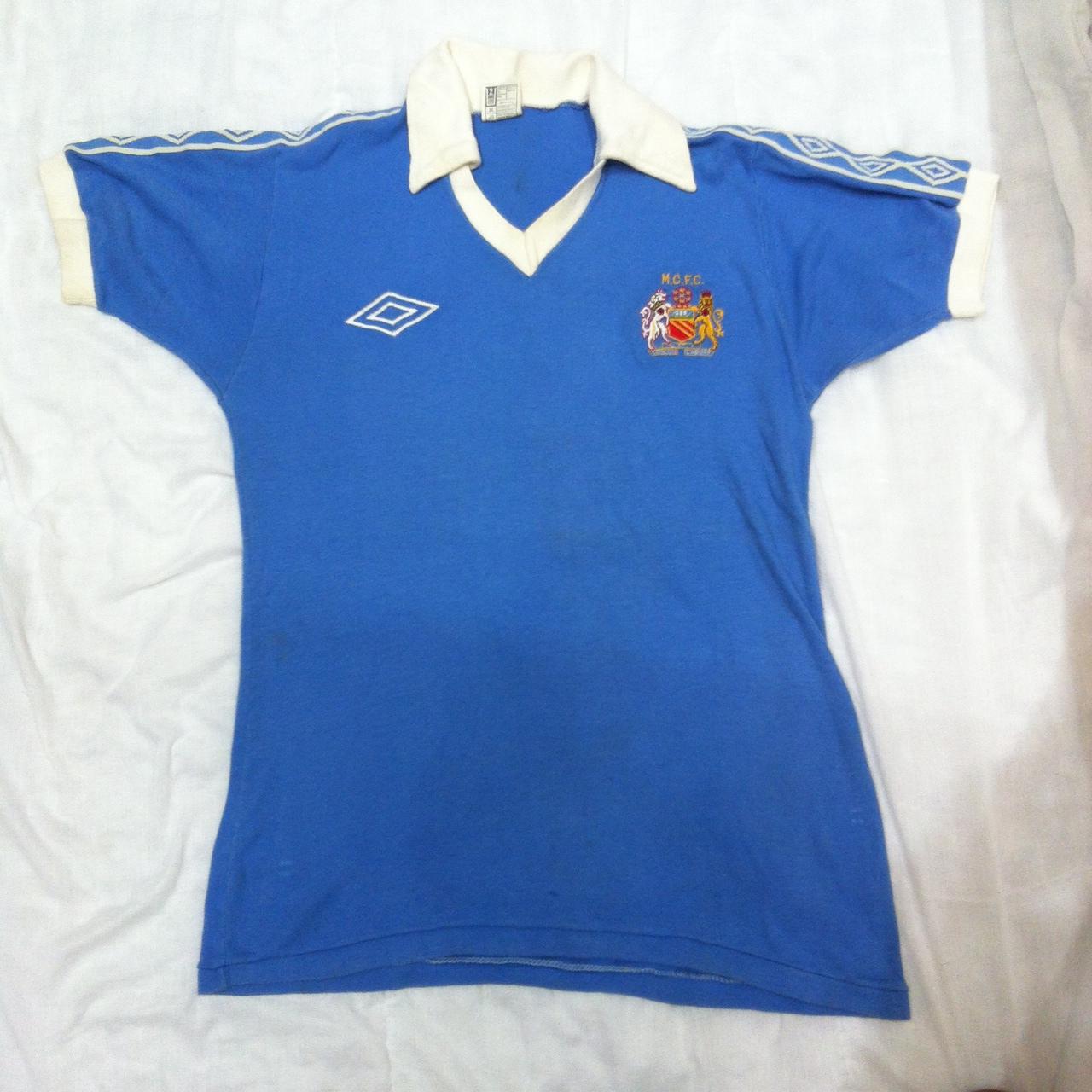 Fußball-Trikots von ausländischen Vereinen Manchester City maglia jersey shirt camiseta trikot Umbro 1981 football vintage Fußball-Trikots von englischen Vereinen