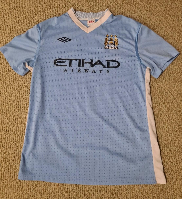 b85a700a6 Manchester City Home football shirt 2011 - 2012. Sponsored by Etihad