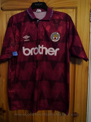 Manchester City Away football shirt 1990 - 1992