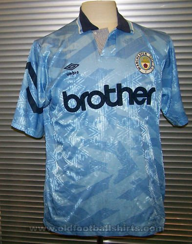 Manchester City Home football shirt 1991 - 1993