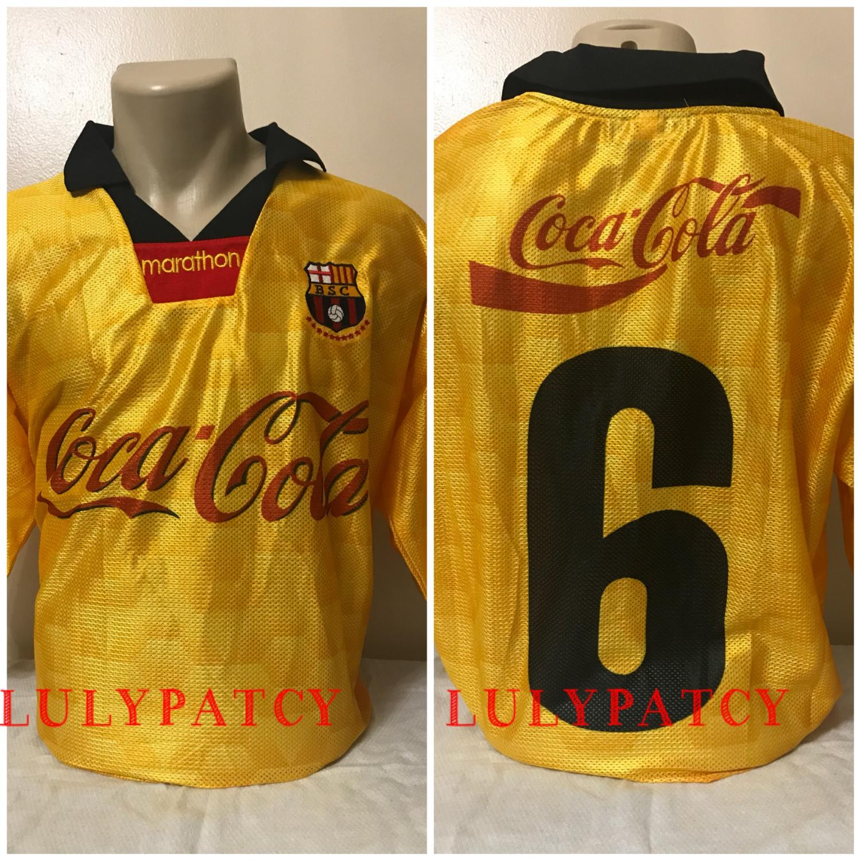 buy popular 391af a5d3b Barcelona SC Home football shirt 1995.