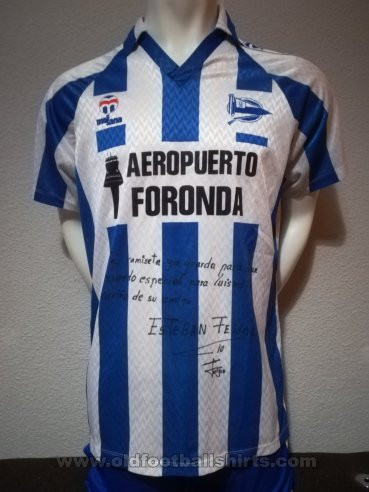 Alaves Home baju bolasepak 1990 - 1991