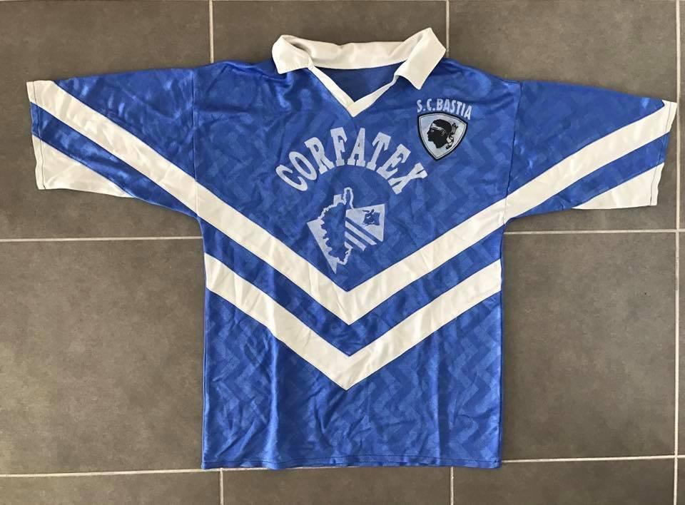 maillot trikot shirt maglia SECB BASTIA AWAY 1976-77 N°10 Football vintage