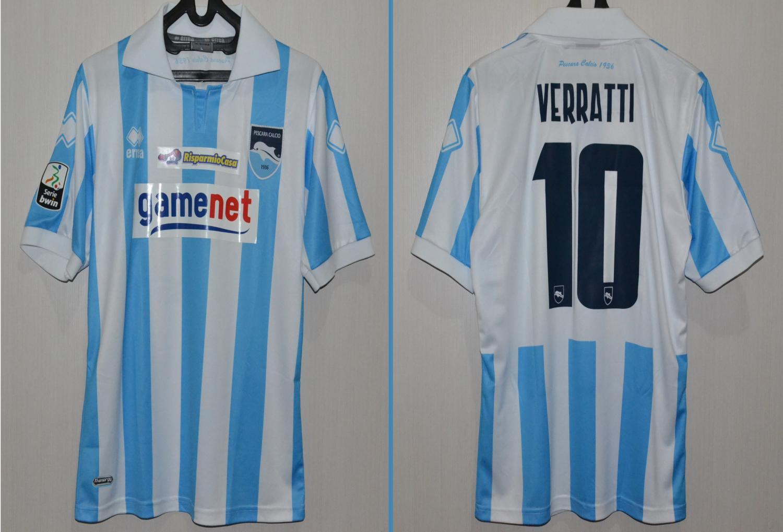 Pescara Calcio Home football shirt 2011 - 2012. Added on ...
