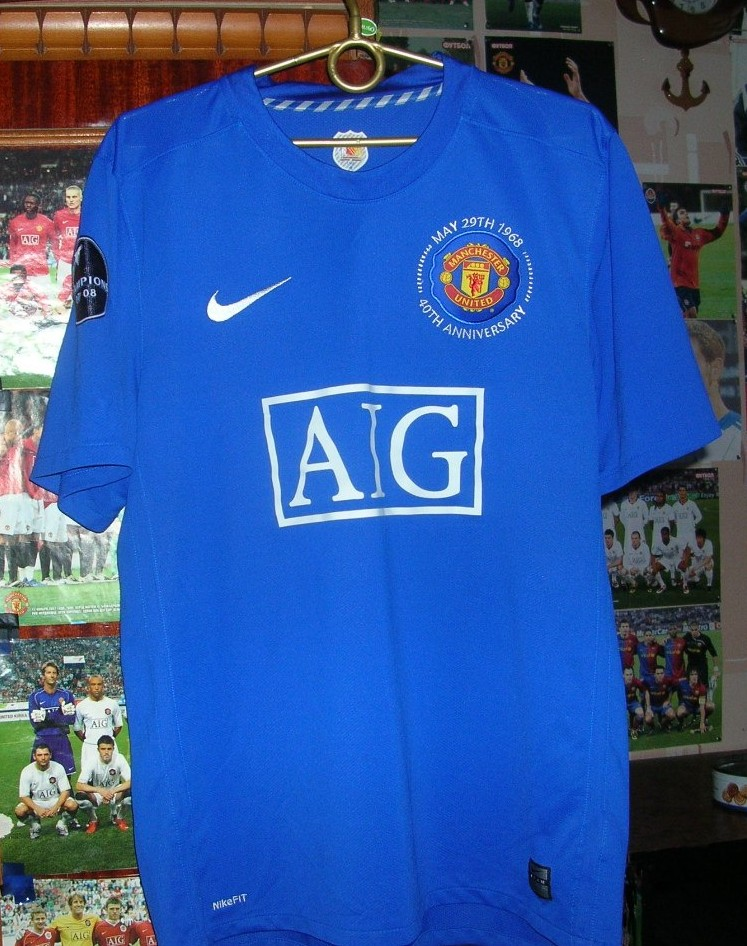 manchester united third football shirt 2008 2009 sponsored by aig manchester united third football shirt