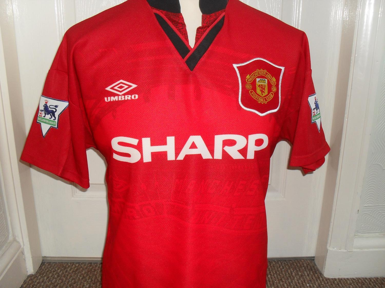 official photos d3cbe 4ef67 Manchester United Home maglia di calcio 1994 - 1995 ...