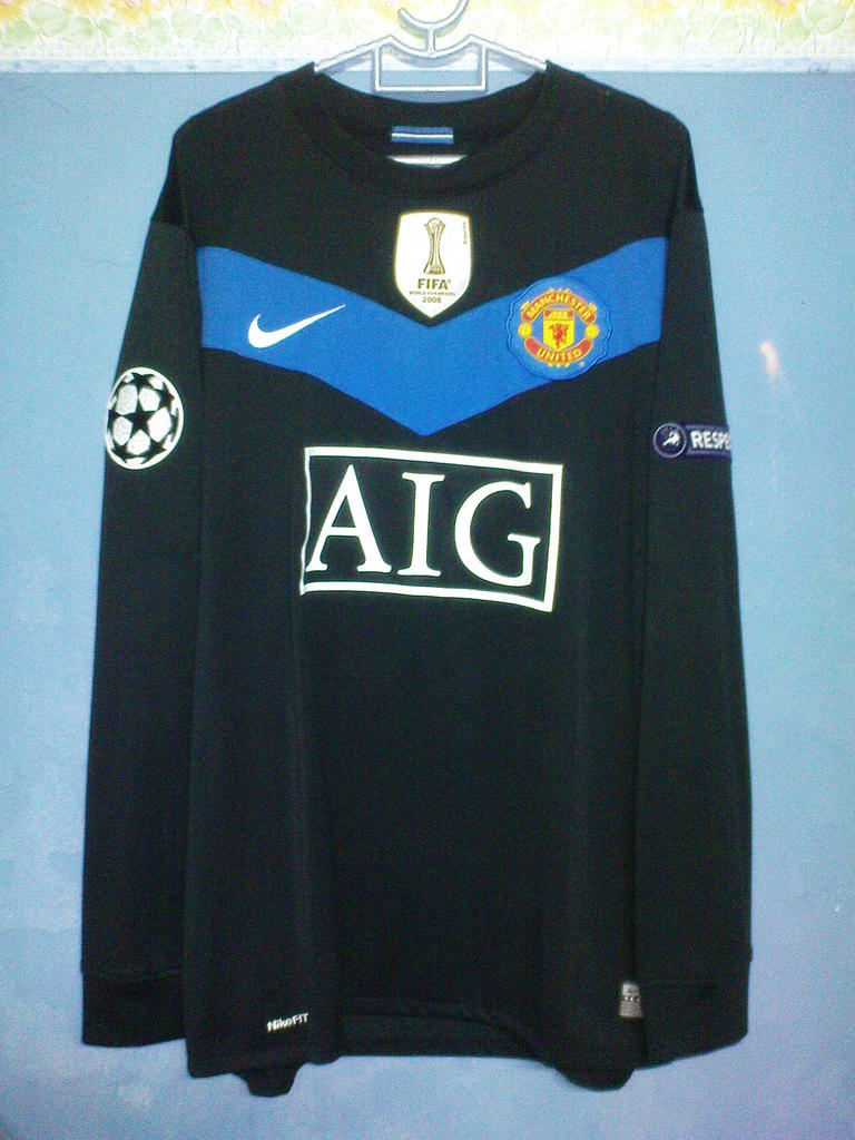Manchester united ext rieur maillot de foot 2009 2010 for Manchester united exterieur