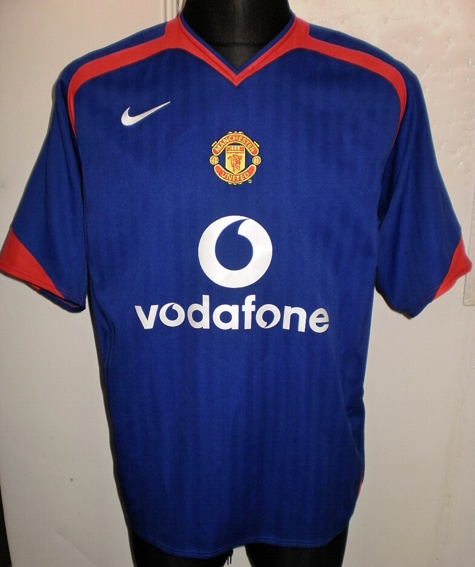 Manchester united ext rieur maillot de foot 2005 2006 for Manchester united exterieur