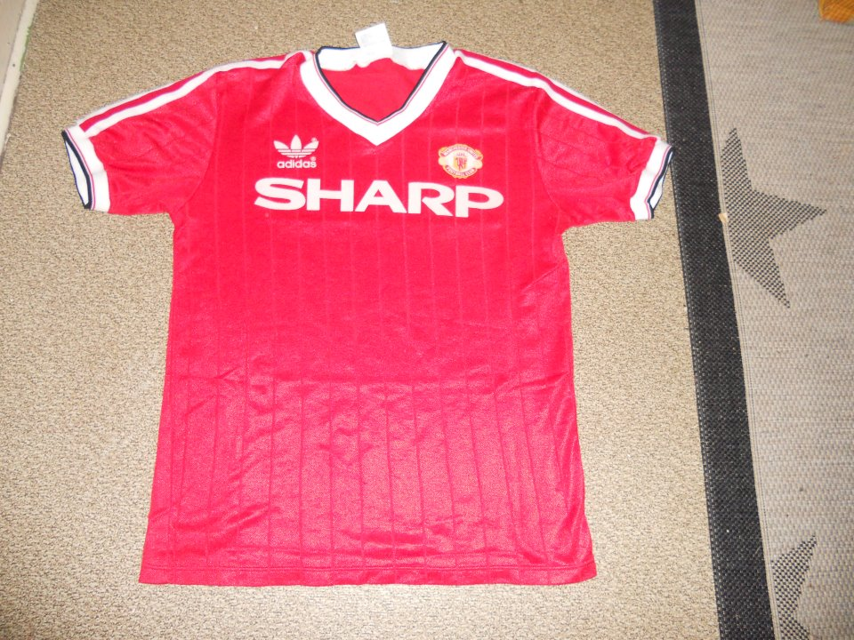 1142619c3 Manchester United Home football shirt 1983 - 1984. Sponsored by Sharp