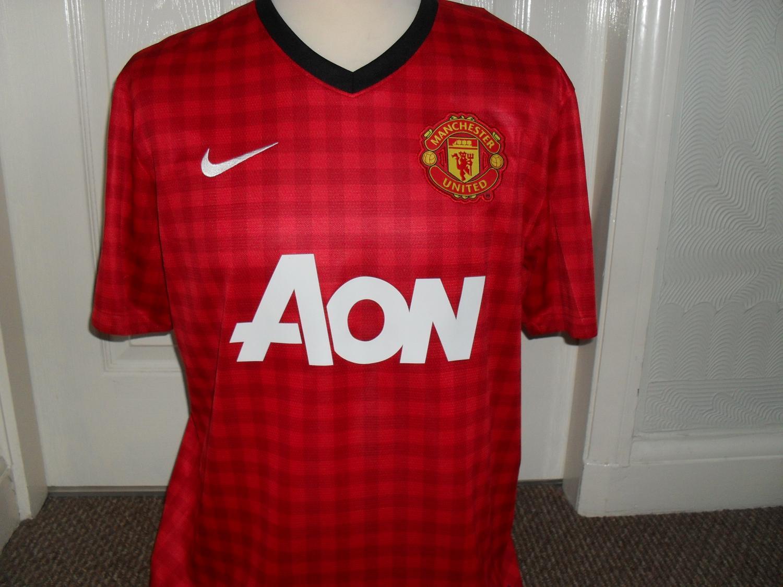 ec4445b51a2 Manchester United Home Camiseta de Fútbol 2012 - 2013. Sponsored by AON