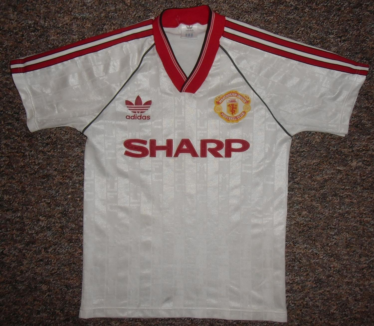 d4668da70 Manchester United Away football shirt 1988 - 1990. Sponsored by Sharp