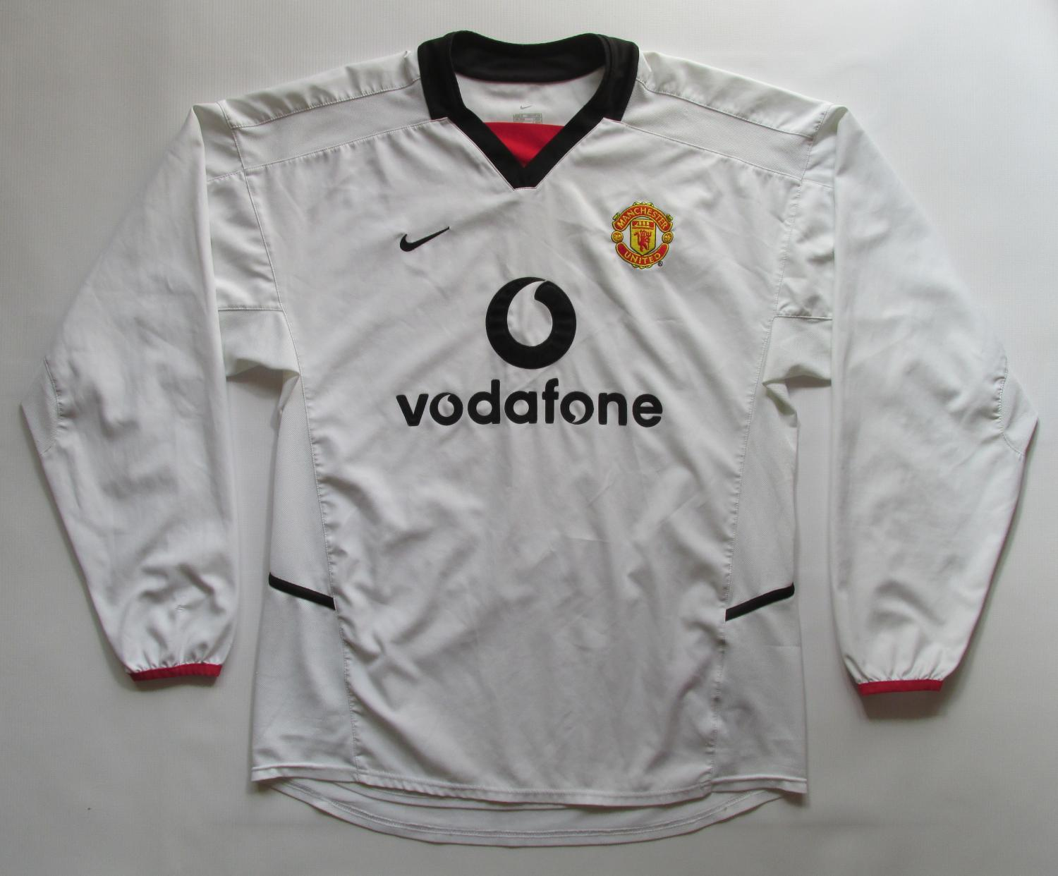 newest 8d9f0 7acbe Manchester United Away football shirt 2002 - 2003. Sponsored ...