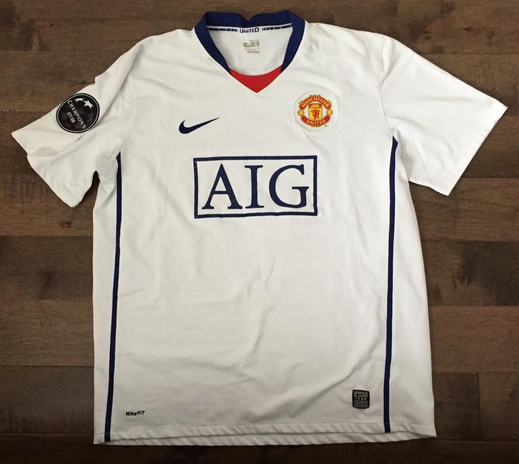 Manchester United Away Football Shirt 2008 2009