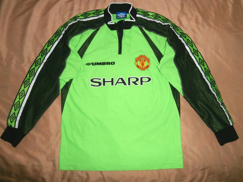 Manchester United Goalkeeper Football Shirt 1998 1999 Sponsored By Sharp