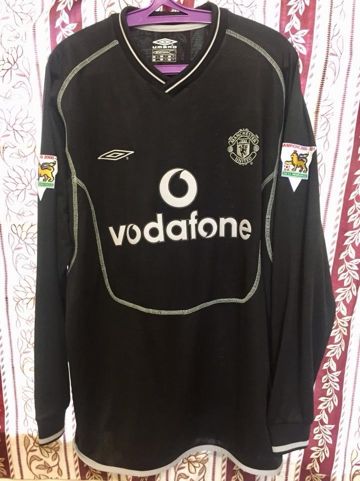 d99011f2516 Manchester United Goalkeeper maglia di calcio 2000 - 2002. Sponsored ...