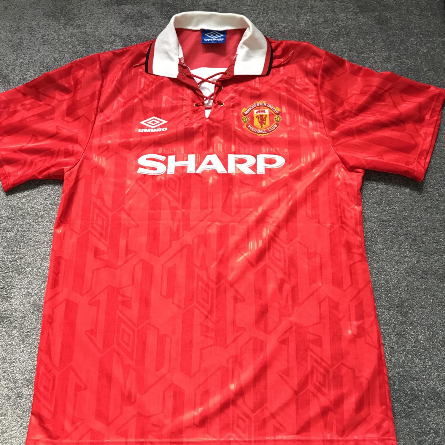 9ba1ddf8f Manchester United Home football shirt 1992 - 1994. Sponsored by Sharp