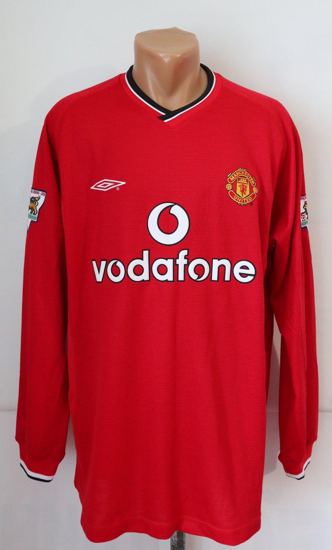 Manchester United Home maglia di calcio 2000 - 2002. Sponsored by ...