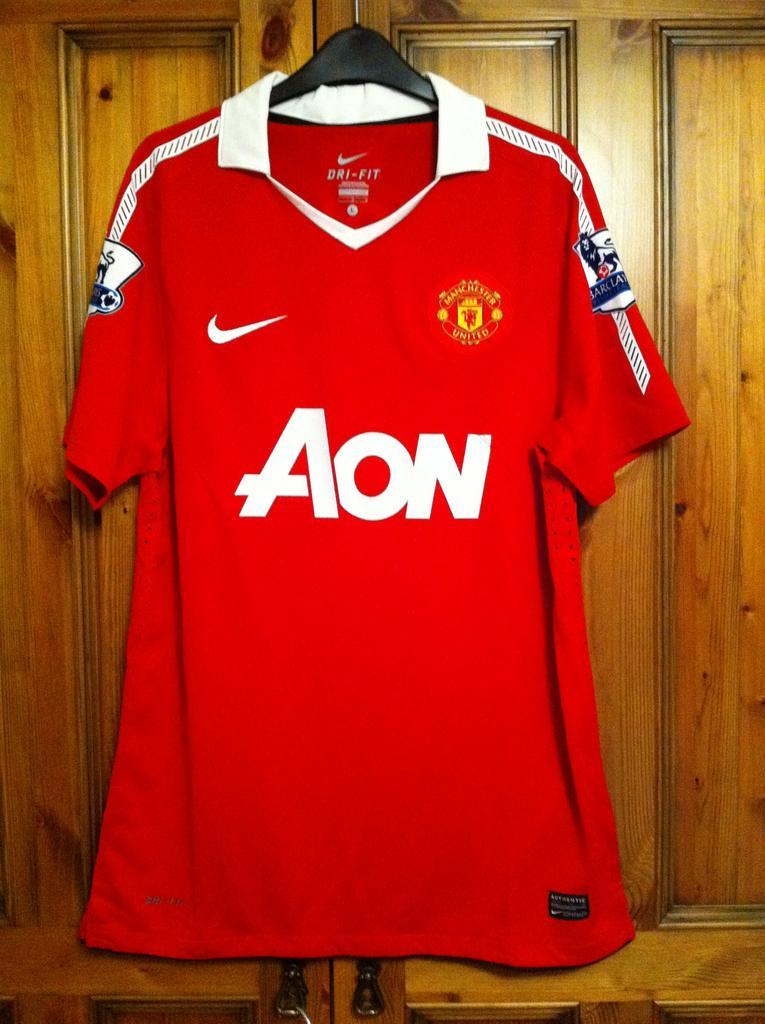 5e87efdca Manchester United Home football shirt 2010 - 2011. Sponsored by AON