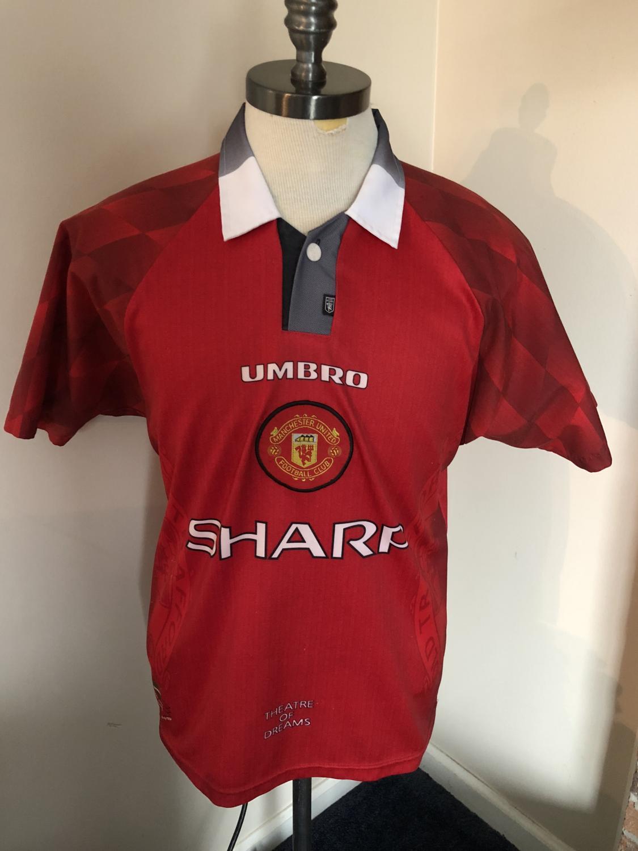 new styles f3c4f 15e5b Manchester United Retro Replicas football shirt 1996 - 1998 ...