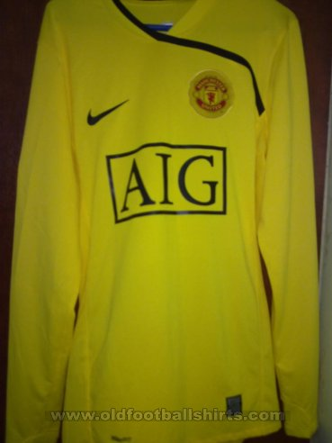 Manchester United Goalkeeper football shirt 2008 - 2009