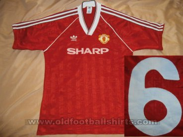 Manchester United Home חולצת כדורגל 1988 - 1990