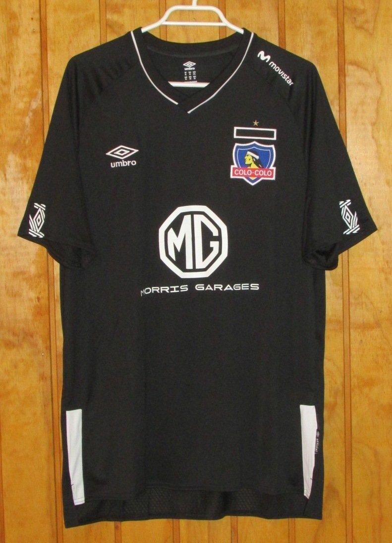 Colo-Colo Away football shirt 2019 - 2020. Sponsored by MG