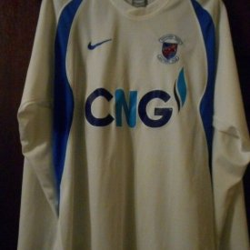 Harrogate Town Away baju bolasepak (unknown year) sponsored by CNG