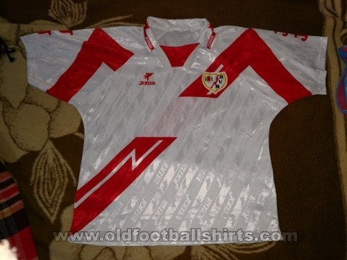 Rayo Vallecano Home baju bolasepak 1994 - 1996