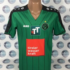 Wacker Innsbruck Home fotbollströja 2017 - 2018 sponsored by Tiroler Wasser Kraft