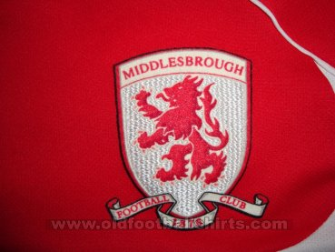 Middlesbrough Home baju bolasepak 2008 - 2009