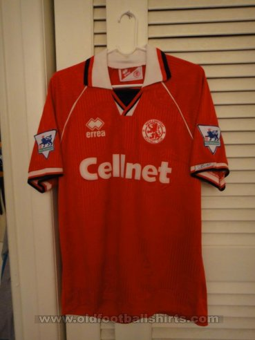 Middlesbrough Home Fußball-Trikots 1995 - 1996