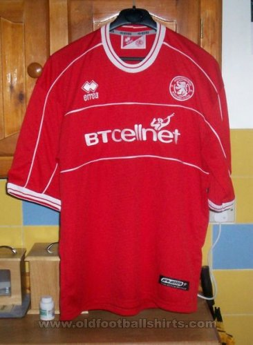 Middlesbrough Домашняя футболка 2001 - 2002