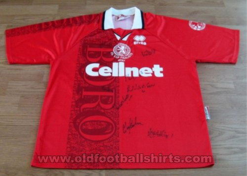 Middlesbrough Home baju bolasepak 1996 - 1997