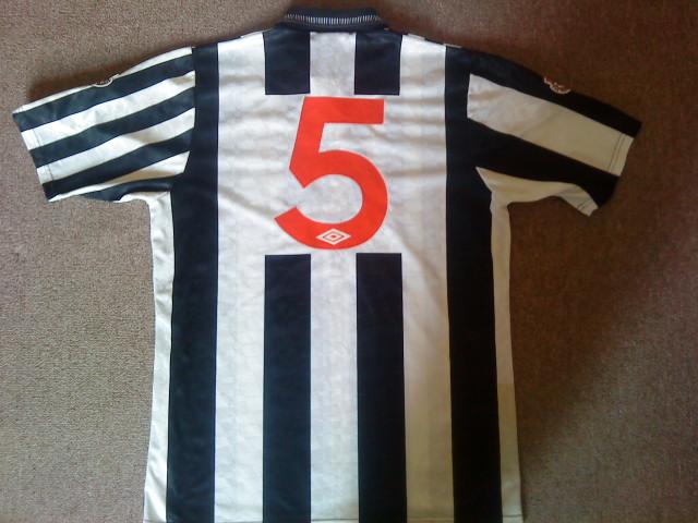 Newcastle United Home football shirt 1991 - 1993. Sponsored by ...