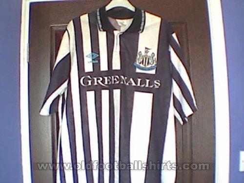 Newcastle United Home football shirt 1990 - 1991. Sponsored by ...