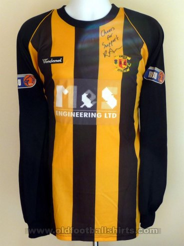 Annan Athletic  Home football shirt 2008 - 2011