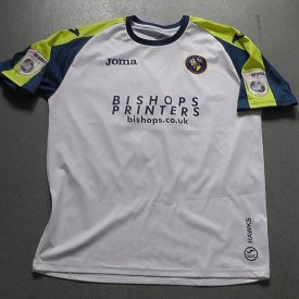 Havant and Waterlooville Visitante Camiseta de Fútbol 2015 - 2016 sponsored by Bishops Printers