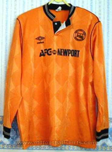 Newport County Home football shirt 1989 - 1990