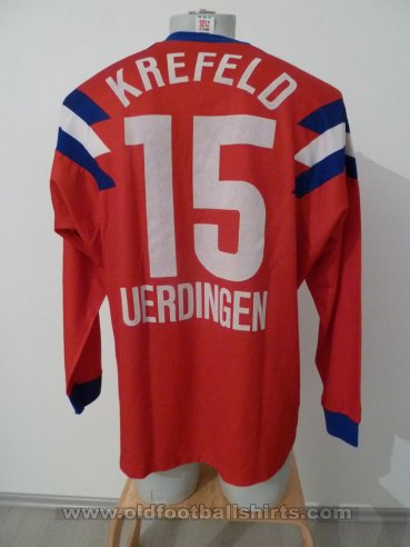 KFC Uerdingen 05 Third football shirt 1990 - 1991. Added ...