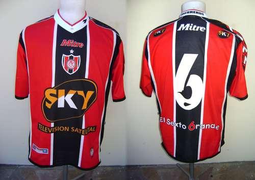 Chacarita Juniors Home Camiseta de Fútbol 2000 - 2001. Sponsored by Sky 52abf77d2aa8b