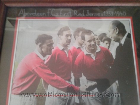 Aberdeen Retro Replicas football shirt 1939 - 1957