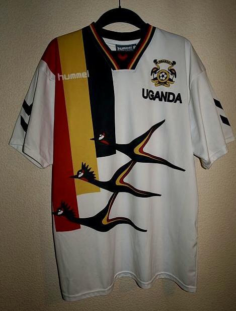 Uganda Home maglia di calcio 2001 - 2002. e7becfccf