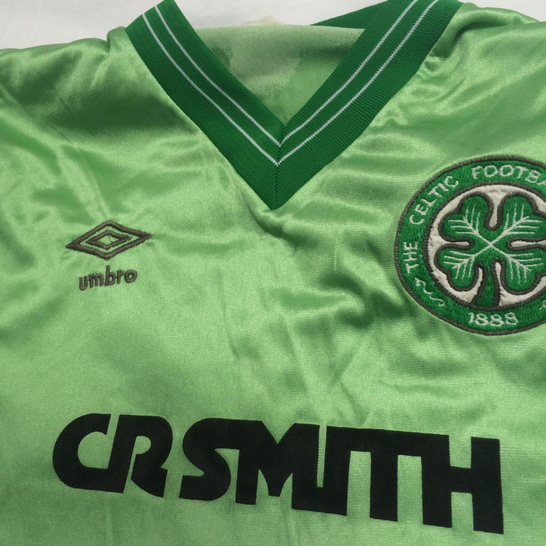 Celtic Away football shirt 1984 - 1986. Sponsored by CR Smith