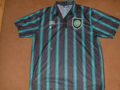 sneakers for cheap 5c611 768cb Celtic Away maglia di calcio 1992 - 1993. Sponsored by no ...