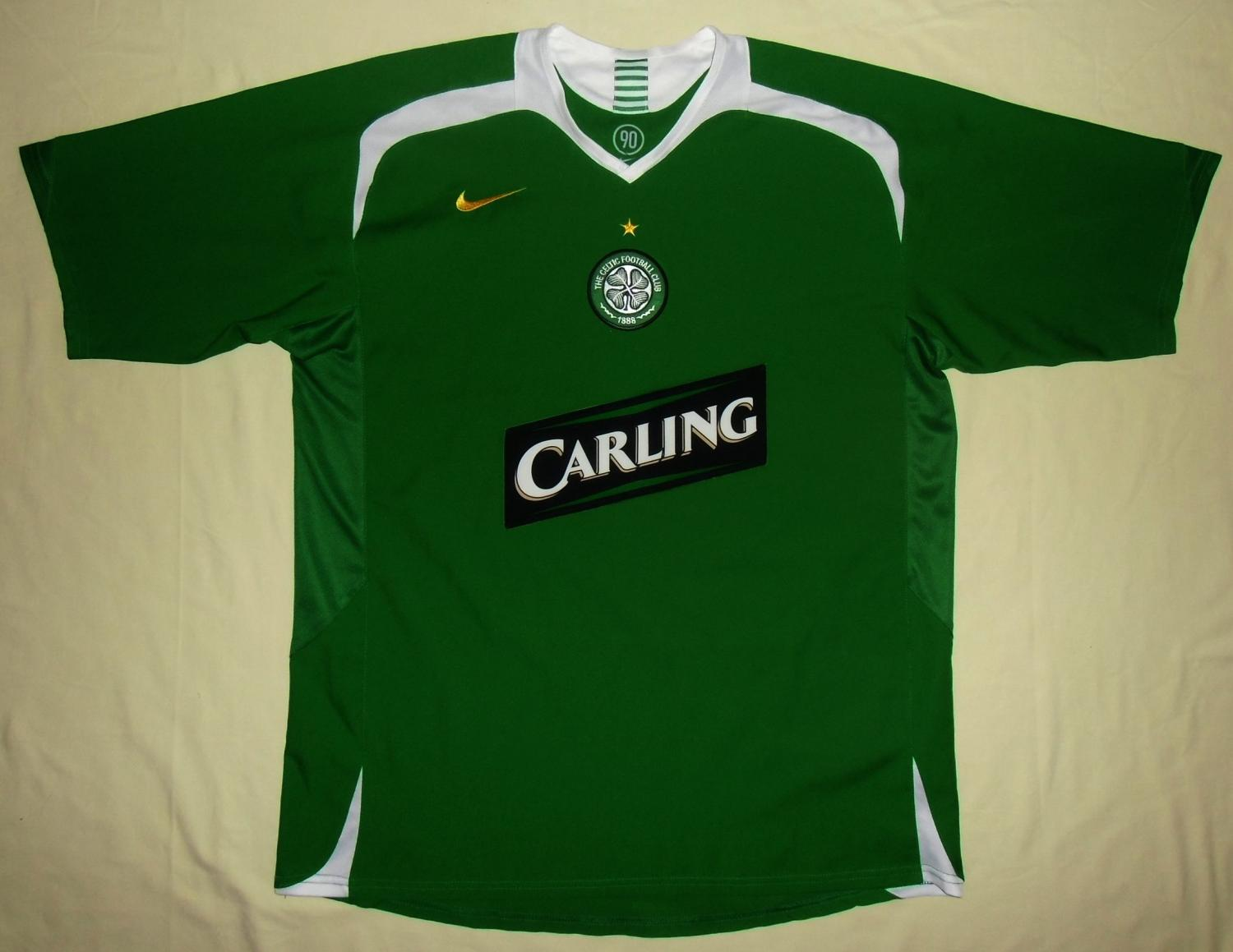 3d2fe2786d5 Celtic Away football shirt 2005 - 2006. Sponsored by Carling