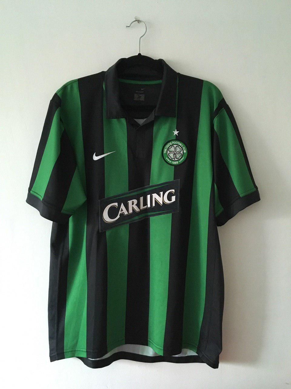 Celtic Away football shirt 2006 - 2007. Sponsored by Carling