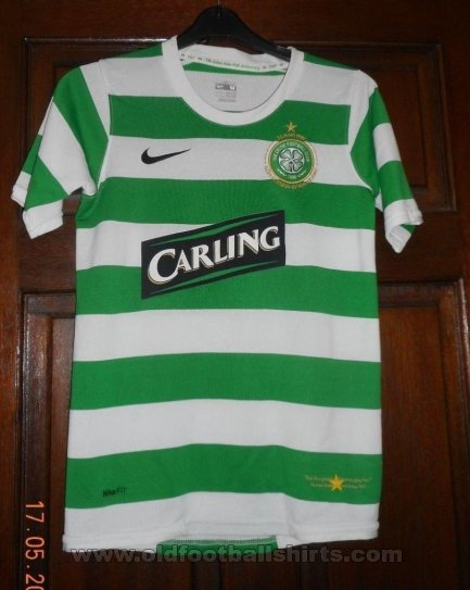 Celtic Home football shirt 2007 - 2008. Sponsored by Carling